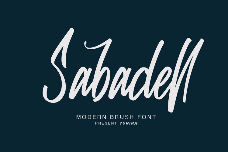 Sabadell | Modern Brush Font example image 1