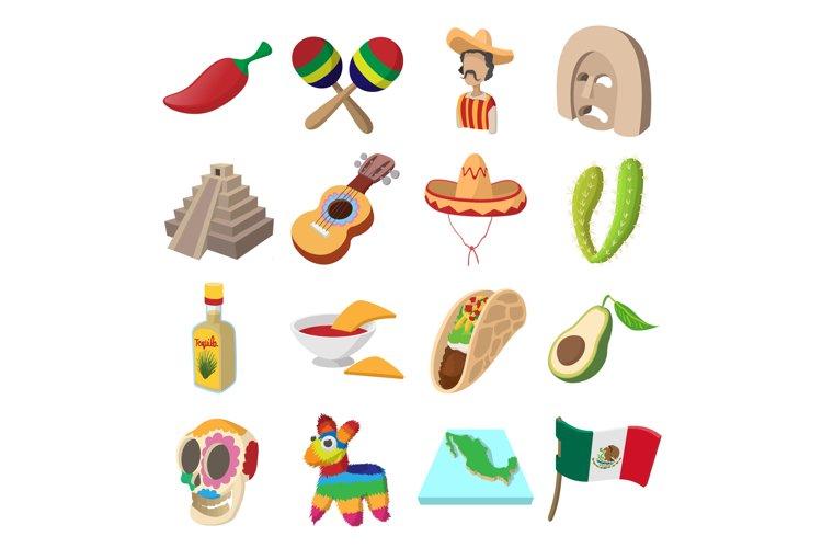 Mexico icons cartoon example image 1