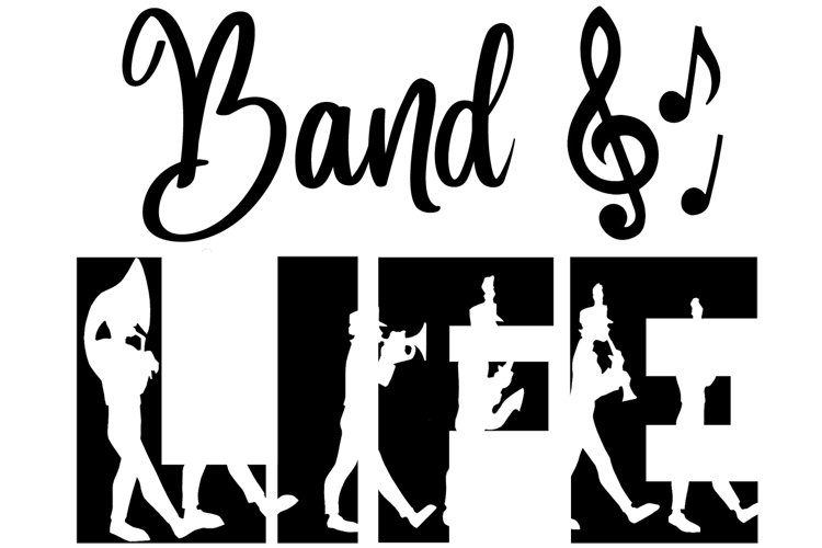 Band Life SVG Cutting File for the Cricut example image 1