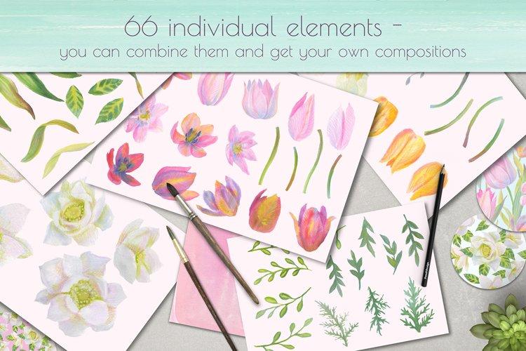 Floral Design Pack (watercolor & pastel) - Free Design of The Week Design10