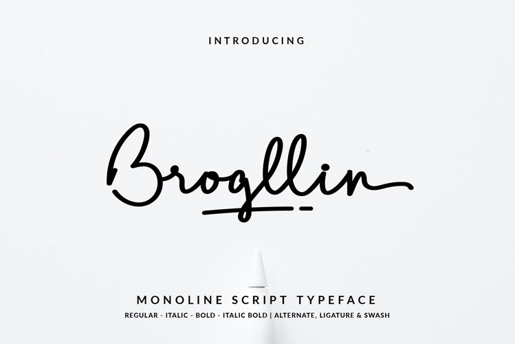 Brogllin Monoline Script
