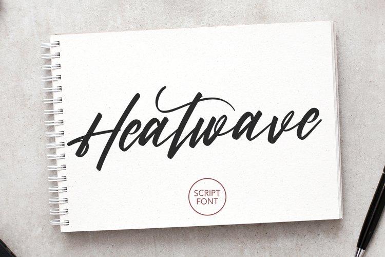 Heatwave Script Brush Handmade Modern Font example image 1