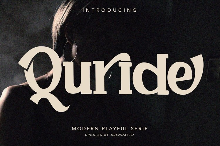 Quride - Display Serif Font example image 1