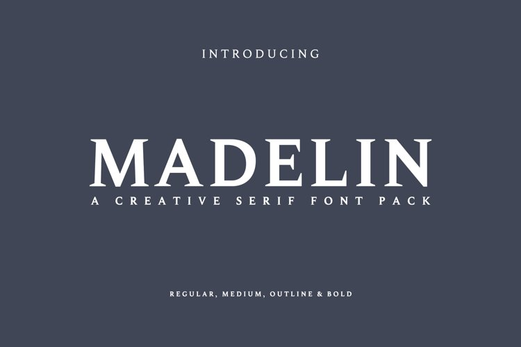 Madelin Serif Font Family Pack example image 1