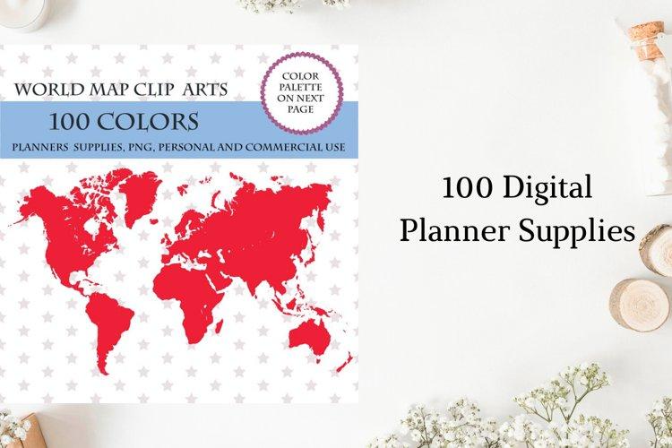 100 World map clipart, Earth clip art, Map illustrations
