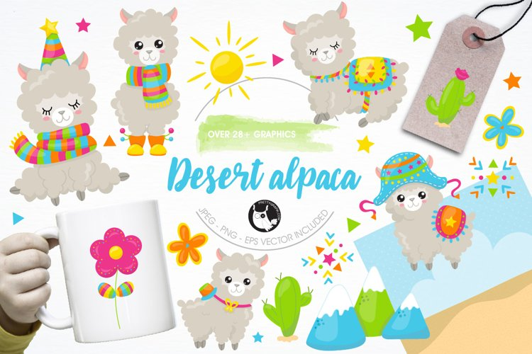 Alpaca party graphics and illustrations example image 1
