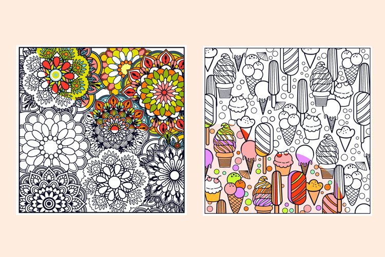 Summer Coloring Page Bundle- 10 vector items example 2