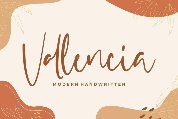 Vallencia - Modern Handwritten example image 1