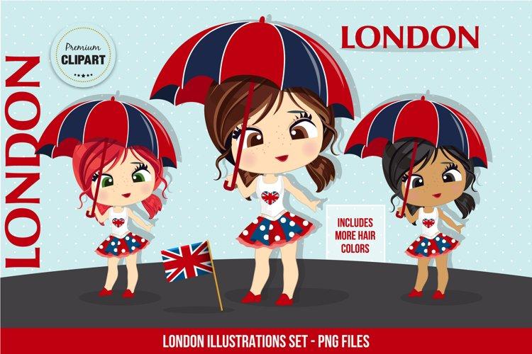 London illustrations, London graphics example image 1