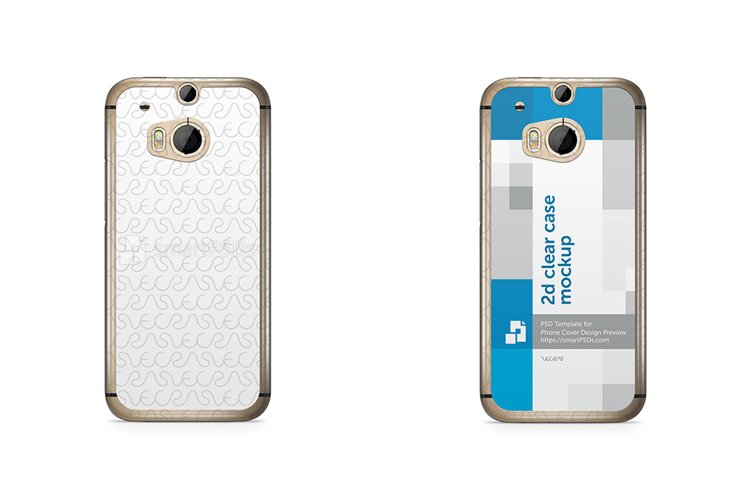 HTC ONE M8 2d Clear Mobile Case Design Mockup 2014 example image 1