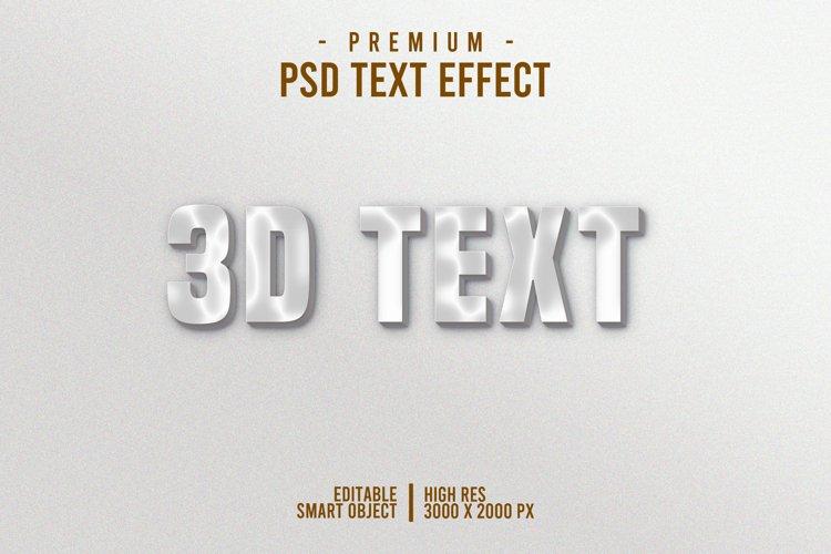 3D Text Style Effect Photoshop