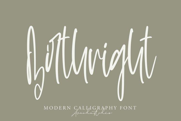 Birthright - Modern Calligraphy Font example image 1