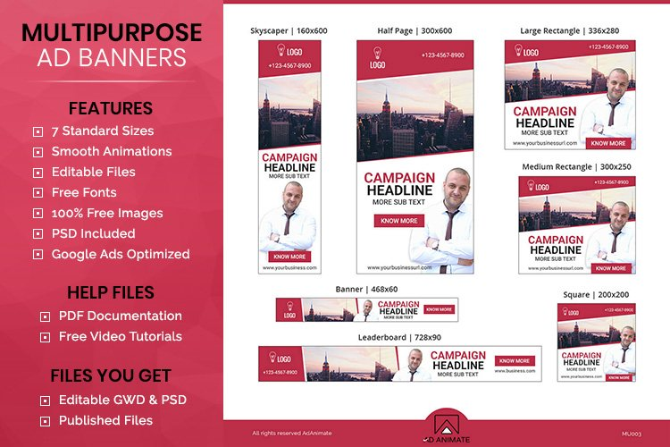 Multipurpose Banner - Html5 Animated Ad Template example image 1