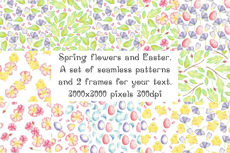 Easter patterns and frames