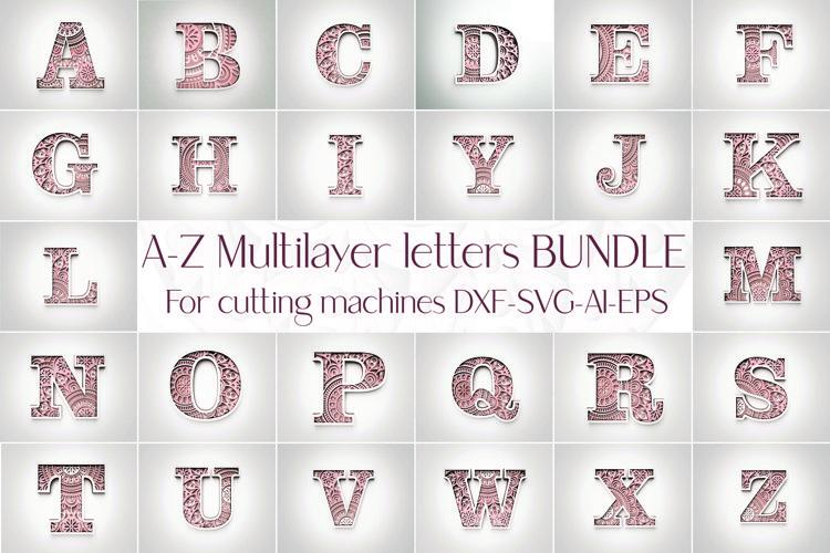 Laser cut DXF Letter A-Z, DXF Alphabet Letter A-Z