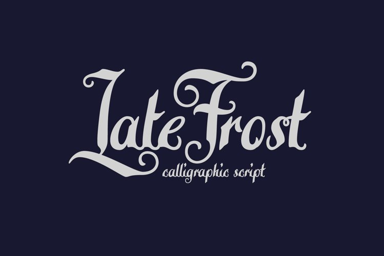 Late Frost font example image 1