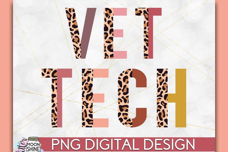 Vet Tech Half Leopard PNG Sublimation