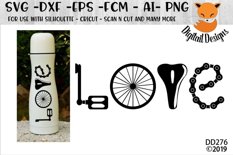 Cycling Love SVG example image 1
