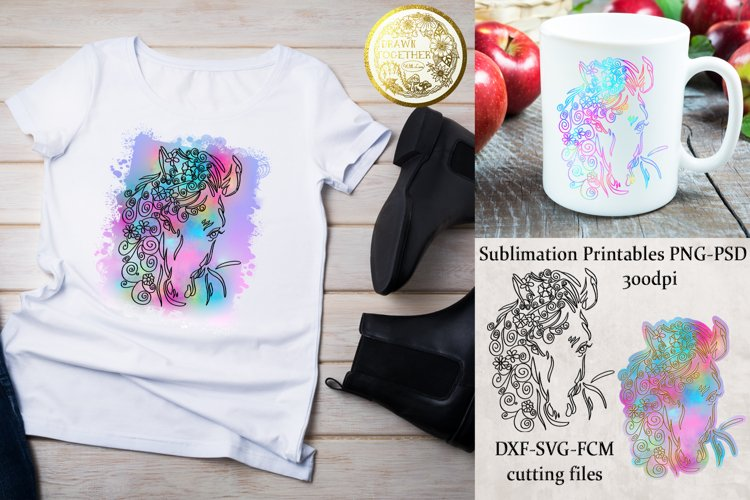 Horse 1 SVG - Sublimation PNG | Cutting SVG | Bundle