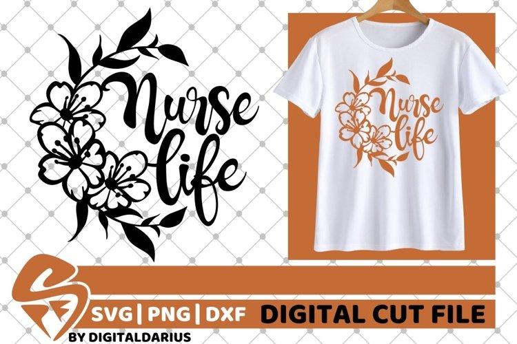 Nurse Life svg, Stethoscope svg, Hero svg, Medical, Flower example image 1