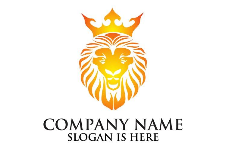 Lion face logo emblem template for business design example image 1