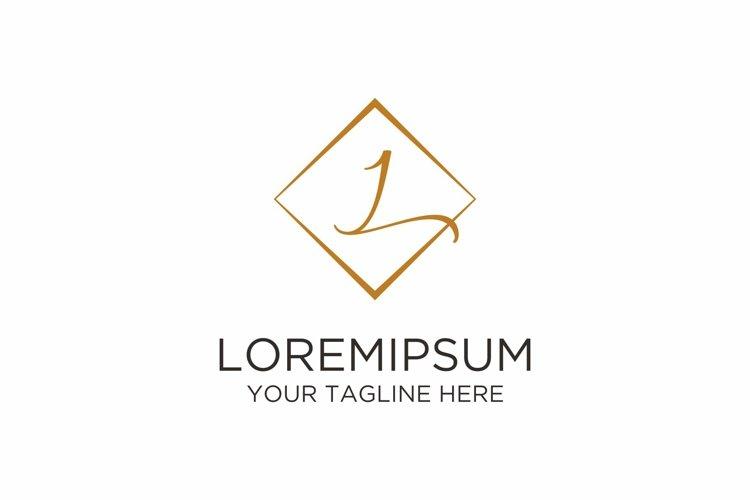 Initial L Letter Rhomb Handwriting Logo example image 1
