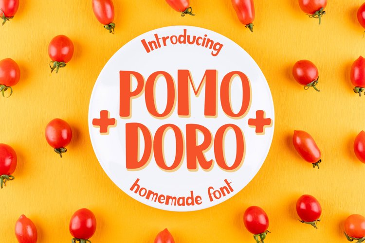 Pomodoro - kids hand written font example image 1