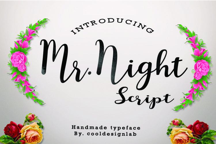 Mr.Night script - Free Font of The Week Font