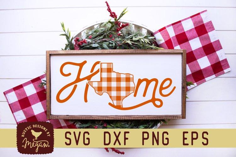 Texas Buffalo Plaid State Home Script Christmas SVG example image 1