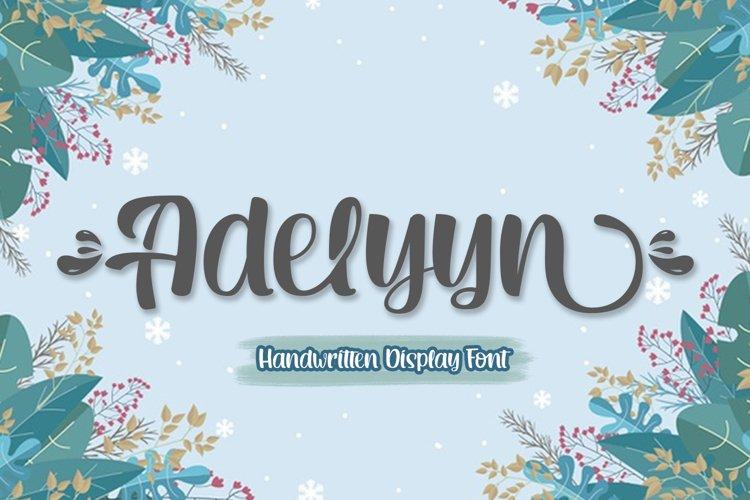 Adelyyn Display Font example image 1