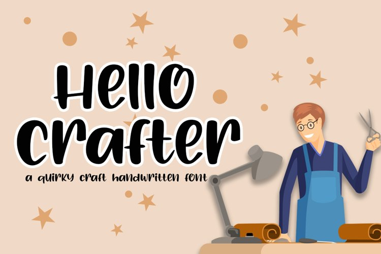 Hello Crafter a Handwritten Craft Font example image 1