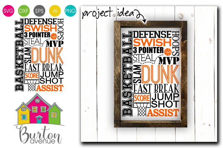 Basketball Subway Art SVG File example image 1