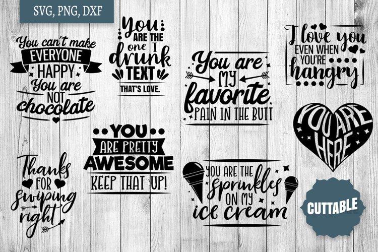 Funny Love SVG bundle, Sassy love quote cut file bundles example image 1