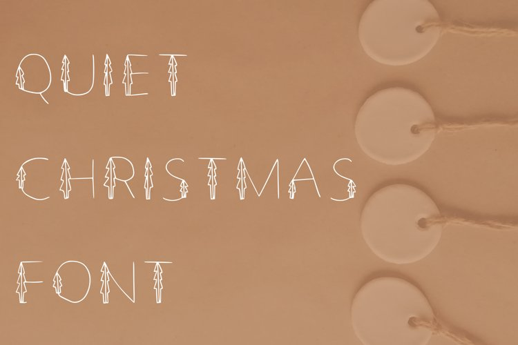 Quiet Christmas font in ttf, otf example image 1