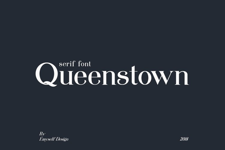 Queenstown serif font example image 1
