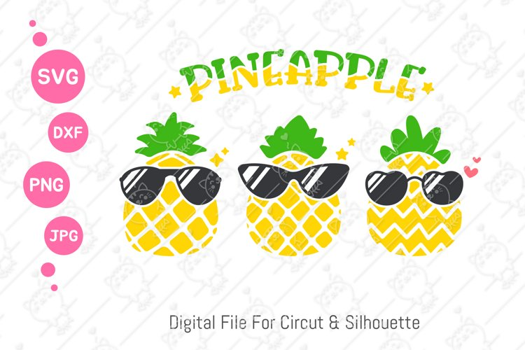 Pineapple With Sunglasses svg   Cool Pineapple svg  svg dxf example image 1