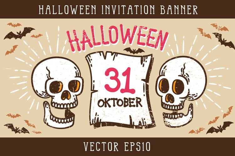 Halloween Invitation Banner example image 1