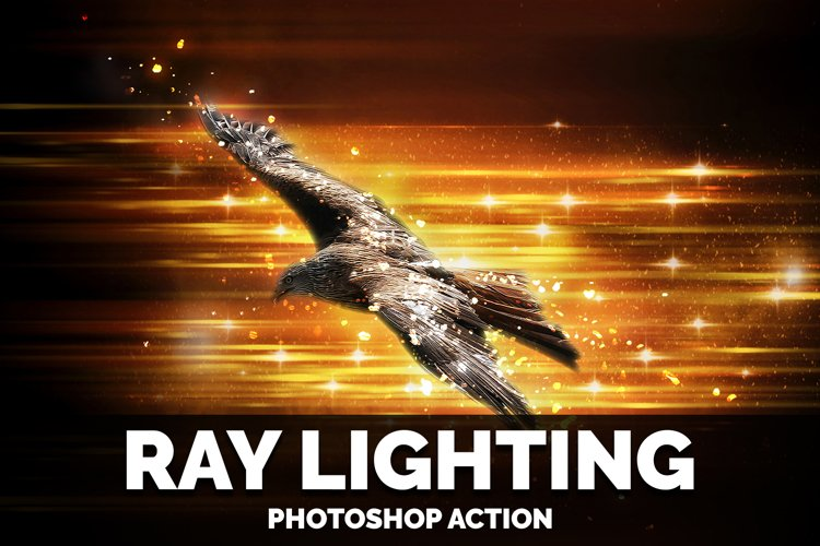 Ray Lighting photoshop action example image 1