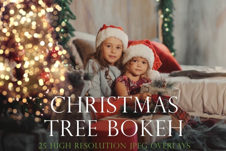 Christmas tree bokeh overlays