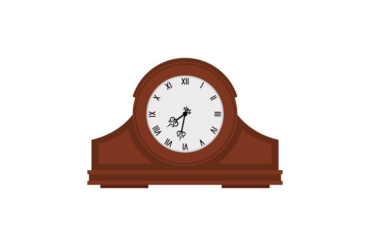 Analog old wooden wall clock example image 1