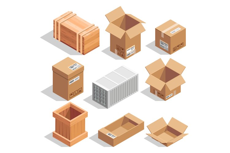 Different big delivery packages. Warehouse or shipping close example image 1