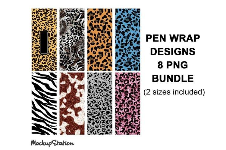 Pen Wrap Sublimation Design Bundle, Leopard Pen Design