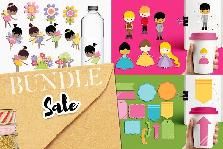 Princess Prince Tags Fairy Clip Art - Graphics Bundle