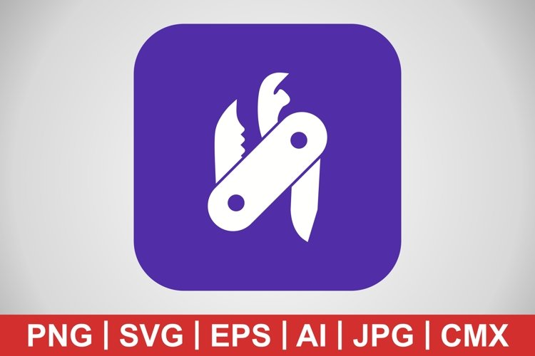 Vector Swiss Army Knife Icon example image 1