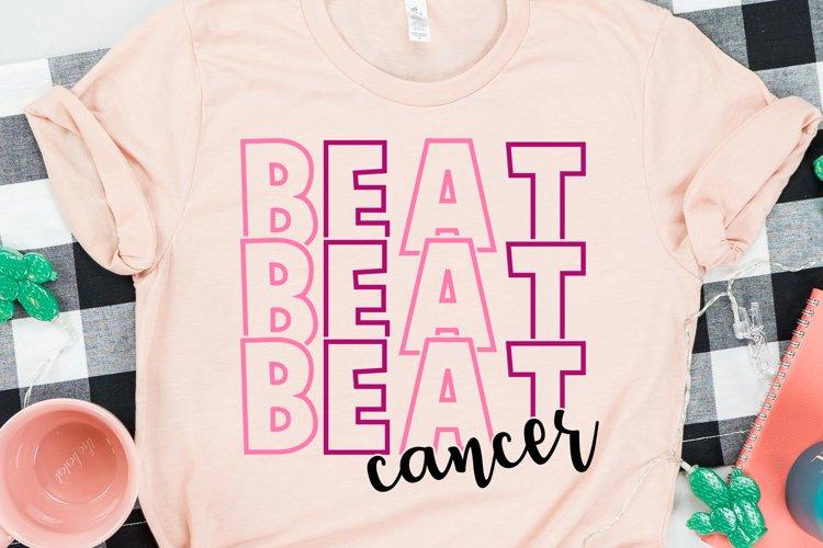 Beat Cancer Svg, digital download, Breast Cancer design example image 1