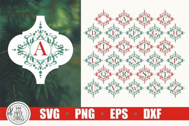 Tile Ornament SVG | Arabesque Tile SVG | Monogram SVG
