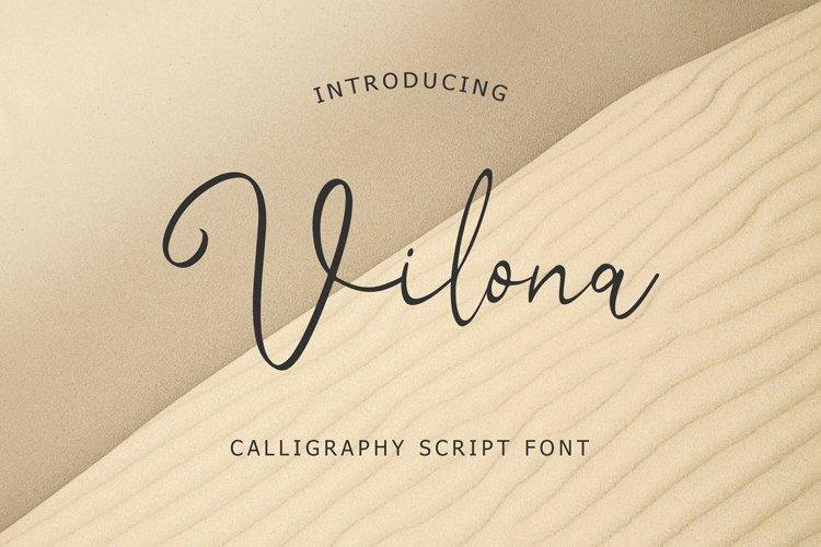 Vilona Calligraphy Script Font example image 1