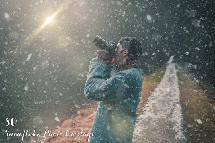 80 Snowflake Photo Overlays example image 1
