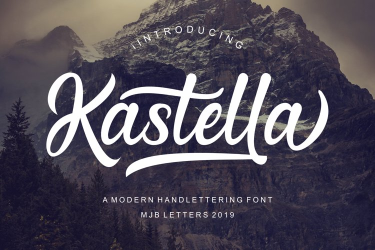 Kastella - Bold Script Font example image 1