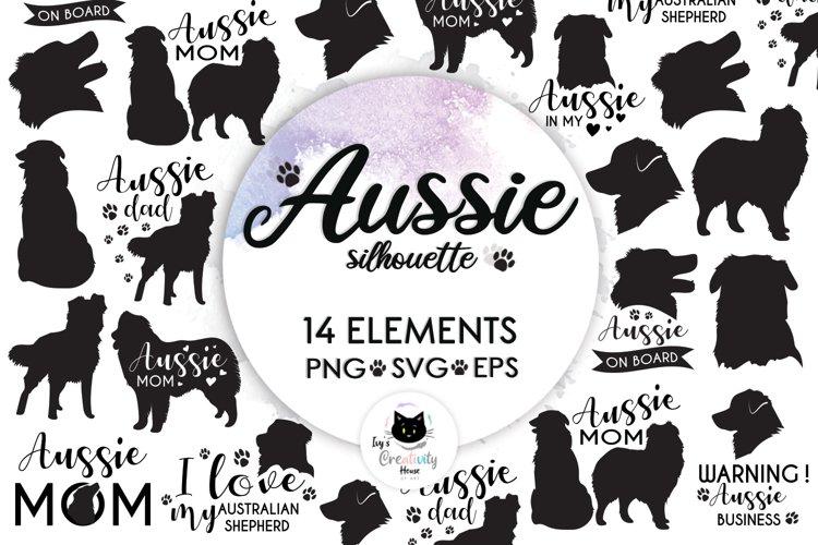 Dog Silhouette, Dog Breeds, Dog Svg, Aussie, Dog Mom Svg example image 1